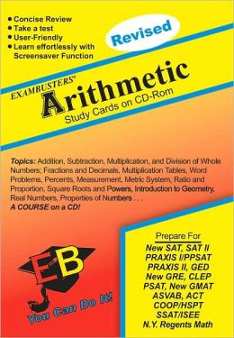 Arithmetic: Exambusters CD-ROM Study Cards