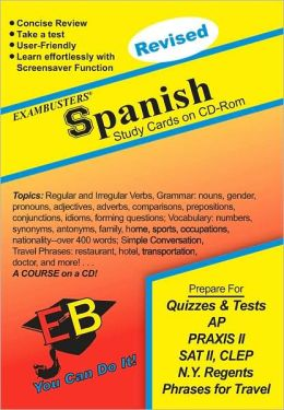 Spanish: Exambusters CD-ROM Study Cards