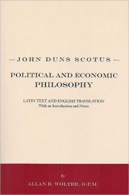 John Duns Scotus - Political and Economic Philosophy