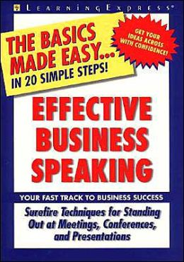 Effective Business Speaking