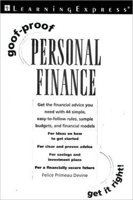 Goof Proof Personal Finance