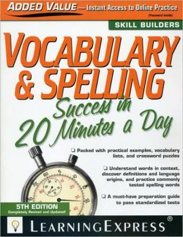 Vocabulary & Spelling Success in 20 Minutes a Day, 5th Edition