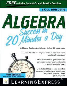 Algebra Success in 20 Minutes a Day, 4th Edition