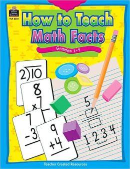 How to Teach Math Facts