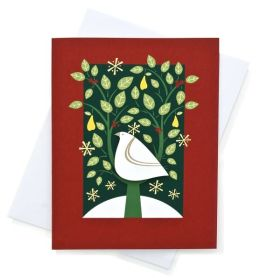 Partridge in a Pear Tree Tip On Christmas Boxed Card