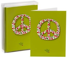 Peace Sign Tip On Christmas Boxed Card