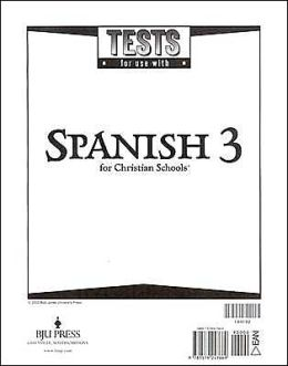 Spanish 3 Tests (Tests Only; For 1 Student)