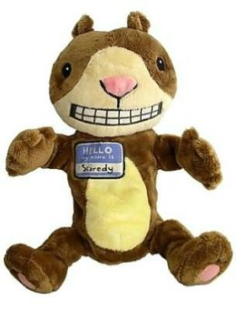 Scaredy Squirrel Puppet: 12 inch