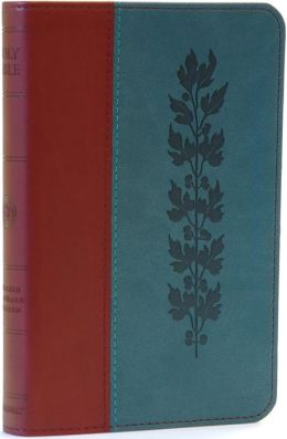 ESV Compact TruTone Bible: English Standard Version, burgundy/teal imitation leather, vine design