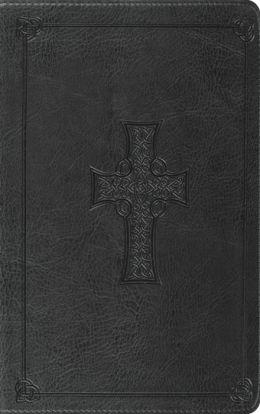 ESV Classic Thinline Bible: English Standard Version, charcoal TruTone, celtic cross design