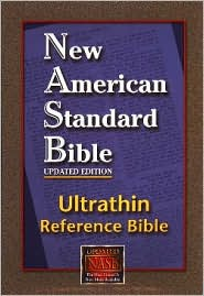 Reference Bible, Ultrathin Edition: New American Standard Bible Update (NASB), burgundy genuine leather