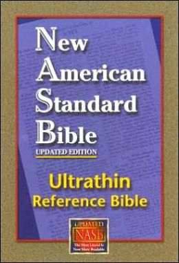 Reference Bible, Ultrathin Edition: New American Standard Bible Update (NASB), black genuine leather