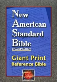NASB Giant Print Reference Bible: New American Standard Bible Update, burgundy leathertex