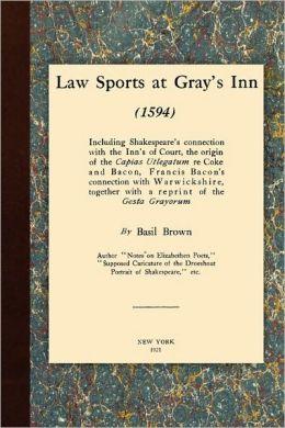 Law Sports At Gray's Inn (1594)