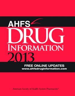 ahfs drug information 2013 pdf