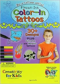 Fresh Ink Color-in Tattoos (for boys)