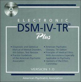 Electronic DSM-IV-TR Plus, Version 1.0