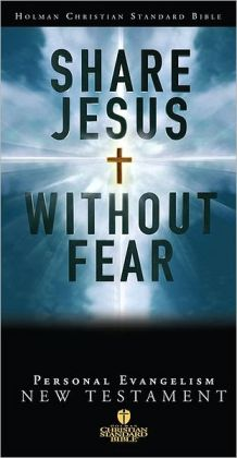HCSB Share Jesus Without Fear New Testament, Black Bonded Leather