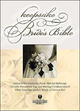 HCSB Keepsake Bride's Bible, White LeatherTouch with Gold Gilding