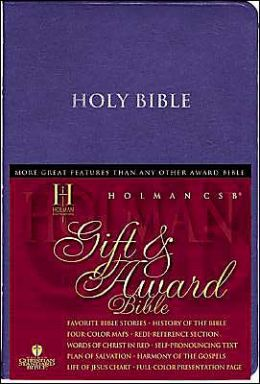HCSB Gift & Award Bible, Burgundy Imitation Leather