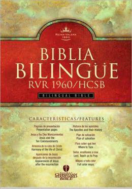 RVR 1960/HCSB Bilingual Bible (Black Imitation Leather - Indexed)