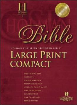 HCSB Large Print Compact Bible, Burgundy Bonded Leather with Magnetic Flap