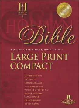 HCSB Large Print Compact Bible, Blue Bonded Leather