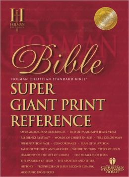 HCSB Super Giant Print Reference Bible, Black Genuine Leather