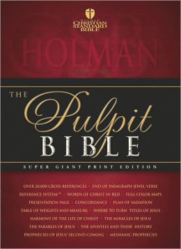 HCSB Pulpit Bible (Black Padded Hardcover)