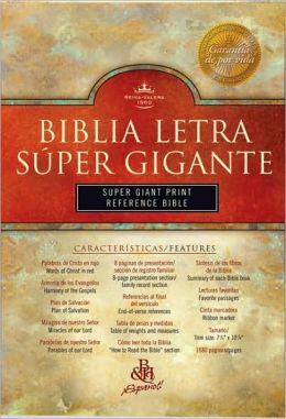 RVR 1960 Biblia Letra Súper Gigante con Referencias, negro piel fabricada con índice
