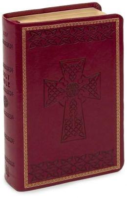 KJV Large Print Compact Bible, Burgundy Imitation Leather