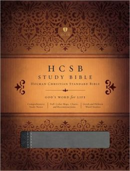 HCSB Study Bible, Black/Gray LeatherTouch