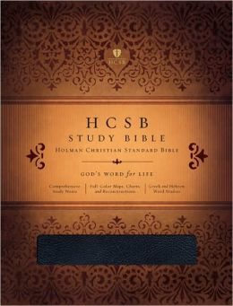 HCSB Study Bible, Black Bonded Leather Indexed