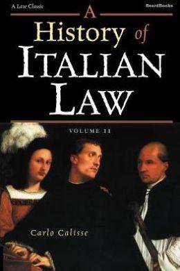 History of Italian Law