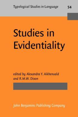 Studies in Evidentiality