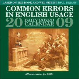 2009 Common Errors In English Usage Daily Box Calendar