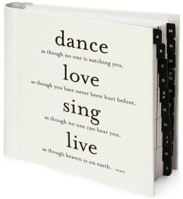 Dance Love Sing Black & White Quotable Address Book 7X7
