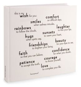 This Is My Wish for You Bound Lined Journal 8X8