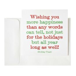 Wishing You More Happiness Christmas Boxed Card
