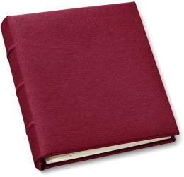 Red Bonded Leather Travel Photo Album
