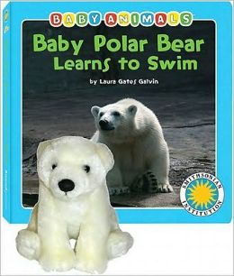 Baby Polar Bear Learns to Swim