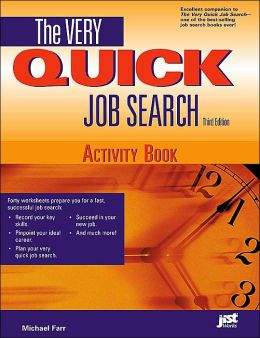The Very Quick Job Search Activity Book, Third Edition