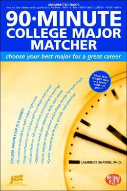 90 Minute College Major Matcher
