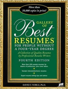 Galley of Best Resumes for People without a Four-Year Degree