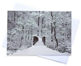 Snowy Bridge Christmas Boxed Card