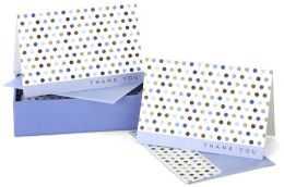 Blue Dots Thank You Notes Set Of 14
