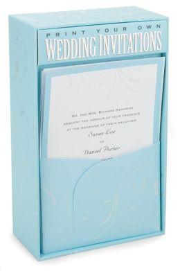 Blue Elegance Wedding Deluxe Imprintable Invitation Kit