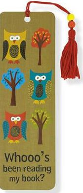 Owl Reading Paper Bookmark