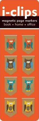 Owls i-Clips Magnetic Page Markers S/8