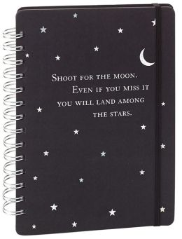 Shoot for the Moon Black Rock Journal 6x8